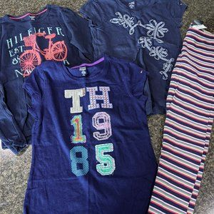 Tommy Hilfiger Lot-3 Shirts & Leggings; Size 8-10